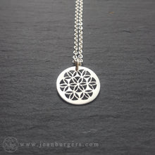 Tiny Flower of Life Pendant - sterling silver