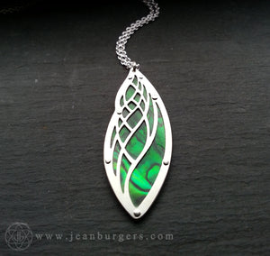 Golden Ratio Pendant - green paua
