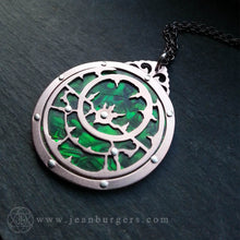 Planespheric Astrolabe Pendant - copper and paua