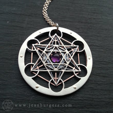 Amethyst Metatron's Cube Pendant - Handcrafted by Jean Burgers Jewellery