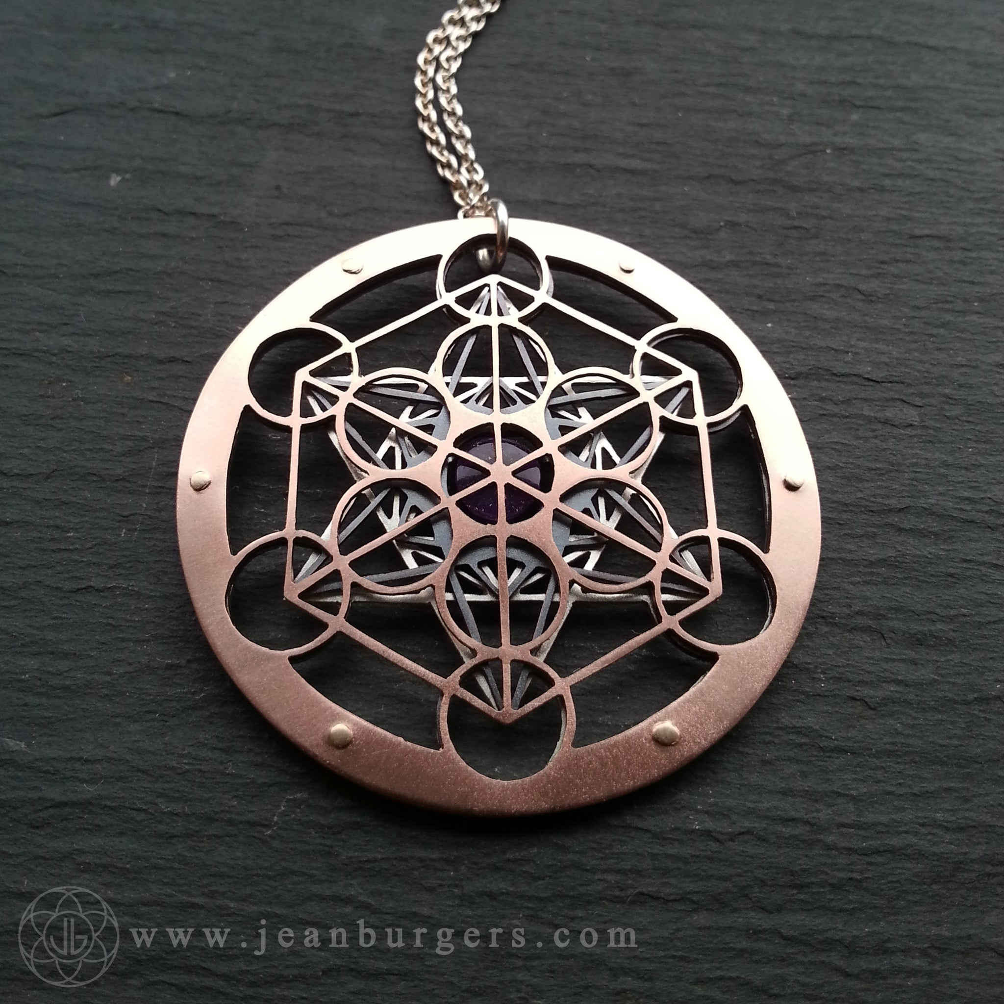 Metatrons cube pendant choose your own gemstone jean burgers metatrons cube pendant choose your own gemstone aloadofball Gallery