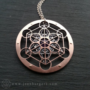Metatron's Cube Pendant - choose your own gemstone