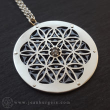 Flower of Life Diamond Pendant