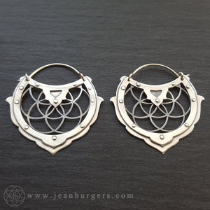 Geo Earrings 1 - Seed of Life