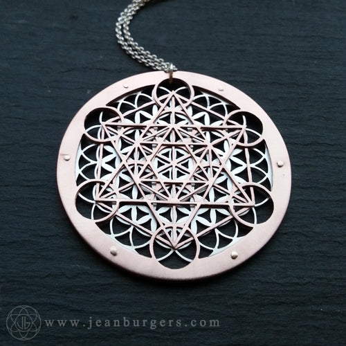 Metatron's Cube Flower of Life Pendant