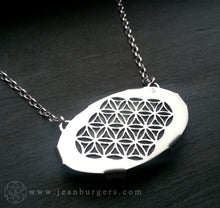 Pounamu Oval Flower of Life Pendant