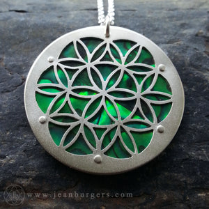 Flower of Life Pendant - Green