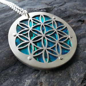 Flower of Life Pendant - Blue