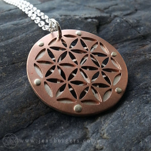 Star Tetrahedron Flower of Life Pendant - small