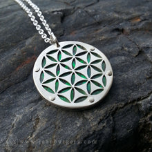 Flower of Life Pendant - Small green