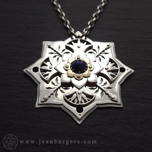 Blue Lotus Pendant