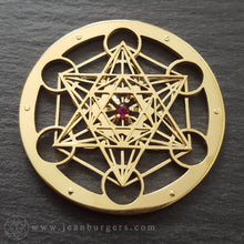 Gold Metatron's Cube Pendant - large