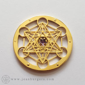 Gold Metatron's Cube Pendant - small