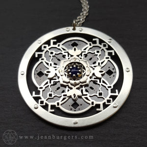 Through The Water She Spoke Mandala Pendant - silver