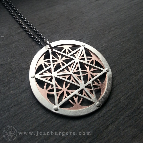 Star Tetrahedron Flower of Life Pendant