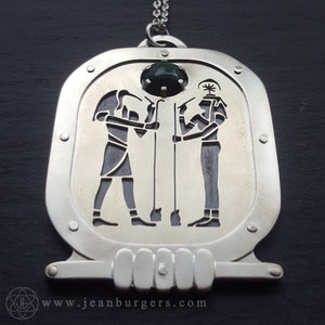 Egyptian Thoth and Seshat Amulet - reserved for Kristal