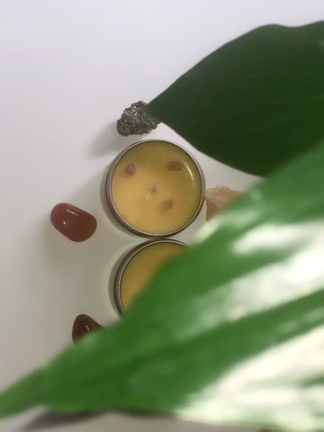 2 and 4 Ounce Sacral Chakra Candle