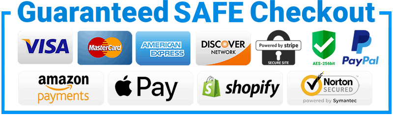 guaranteed Secured and safe checkout