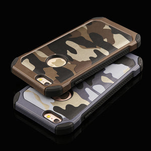 Camouflage Pattern Rugged iPhone Back Cover Case With Anti-Shock corners