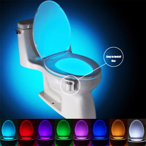 8 Colors LED Motion Sensing Automatic Glow Toilet Night Light