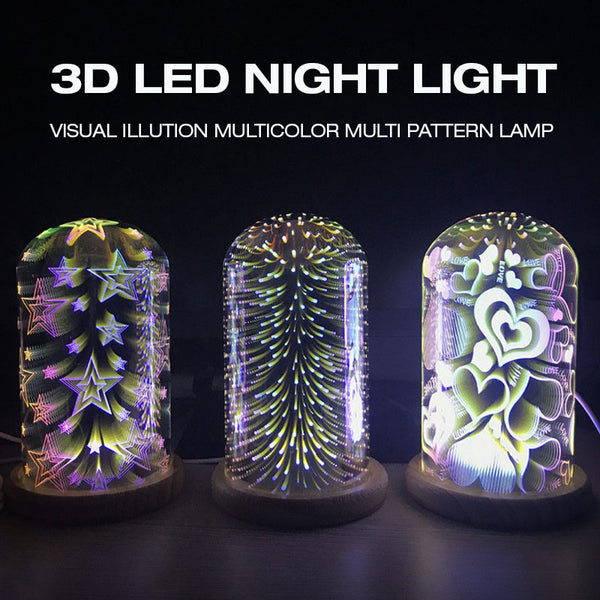 3D Visual Illusion Multicolor LED Nightlight DC5V USB