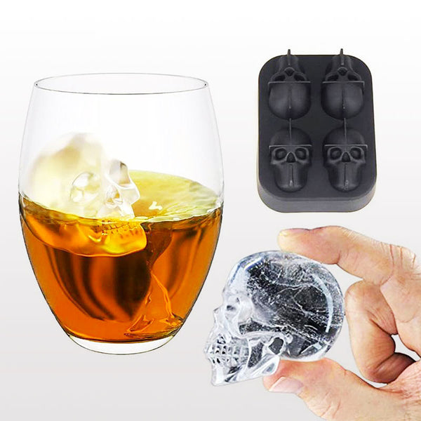 Skull Shape Ice Cube/Ice Cream Mold