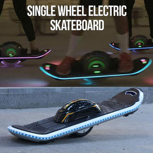 Single Wheel Electric Skateboard/Hoverboard With Bluetooth Speaker & LED Lights