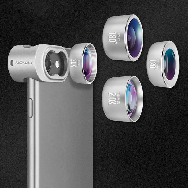 4 in 1 Lens Kit For iPhones Fisheye Wide-Angle Macro Telephoto