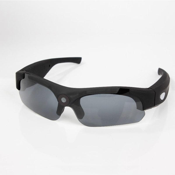 Sunglasses With Wide angles HD 1080P Mini Camera DVR Camcorder shown with black frame color