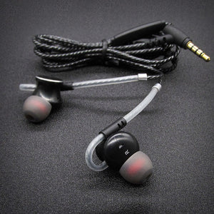 KST-X9 Wire Magnetic Metal Housing HIFI Stereo 3D Bass Headphones