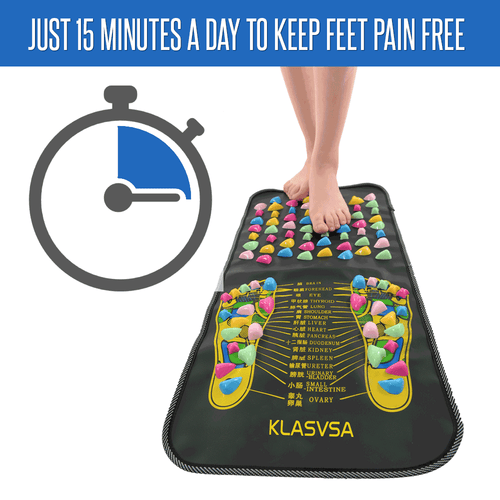 KLASVSA Acupressure and Reflexology Feet Massage Mat 2 In 1 Step On & Walk On - Get It at 50% Off Today!
