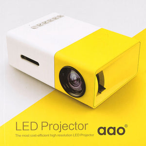 Portable Mini Projector AAO YG300 LED  400-600LM 1080p Video