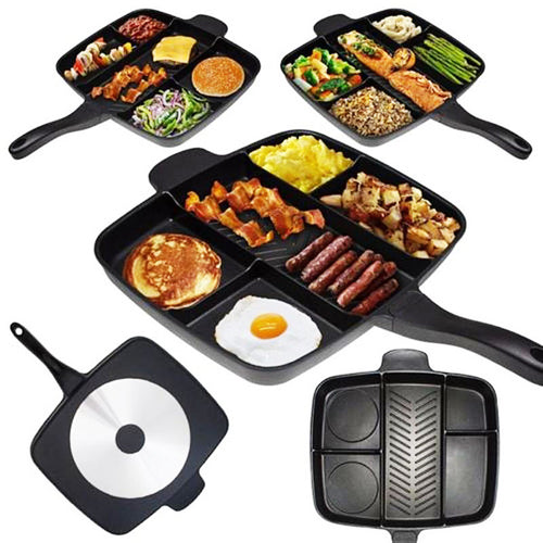 5 in 1 Sectional Non-Sticky Double Coated Aluminum Skillet Grill