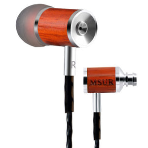 MSUR C210 wood trim 108dB active noise cancellation Earbuds with volume and mic RC