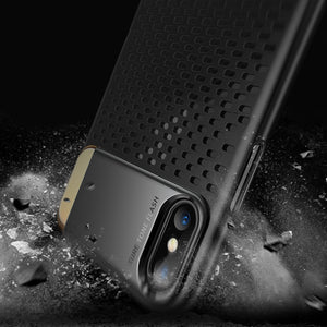 iPhone X Shockproof Armor Case Honeycomb Breathable Texture & Kickstand Holder