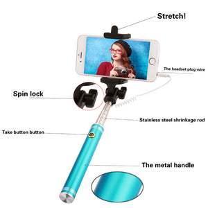 "Selfie Stick Monopod + Mini tripod Extendable to 31.5"" - 80cm"