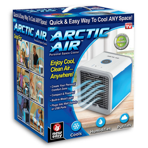 Arctic Air Personal Space Air Conditioner  It Cools / Humidifies / Purifies Air Energy Efficient & Eco-friendly