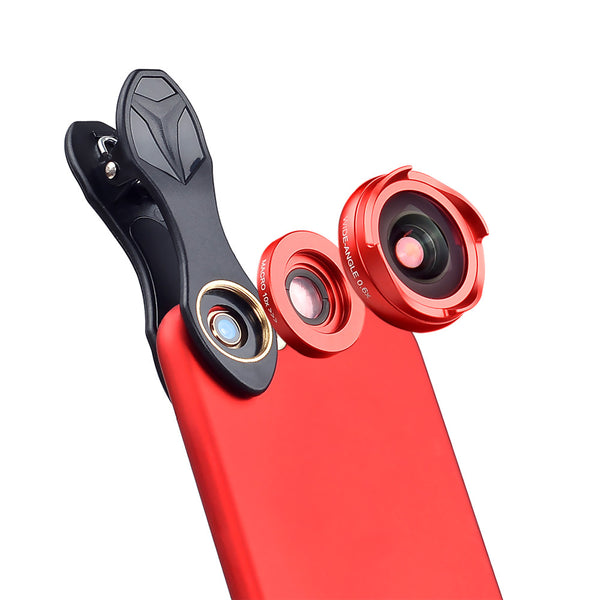 Clip-on Phone Camera 2 in 1 Optical Lens 0.6X Wide Angle - 10X Macro