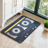 Throwback 80's Cassette Tape Anti-slip Carpet Floor Mat black and yellow