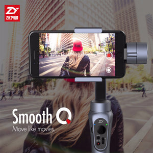 Smooth Q Smartphone 3-Axis Gimbal Stabilizer For iPhone 7 8 X / Samsung S7 S8 S9