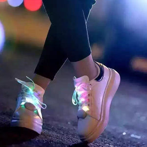 FREEBIE - LED Multicolor Glow in the dark Shoelaces / Flashing Patterns