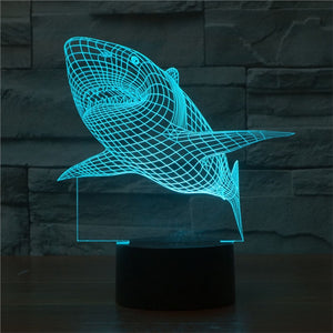 3D Lamp Visual Light Effect & Remote Control Color Changing Night Light