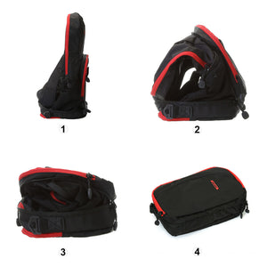 BAGMART Foldable Backpack Black/Red