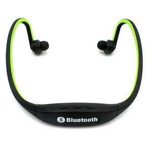 Wireless Sports Bluetooth Earphone With Integrated Mic - SD Card Slot - USB Port