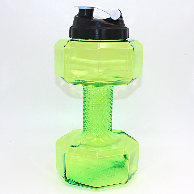 2.5 L Practical Dumbbell Shaped Sport Water Cup Kettle Fit Drink Gym Bottle US