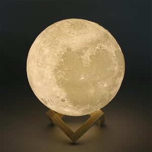 3D Magical Moon LED Night Light USB Rechargeable 3 Light Colors 6 sizes available 8cm to 20cm
