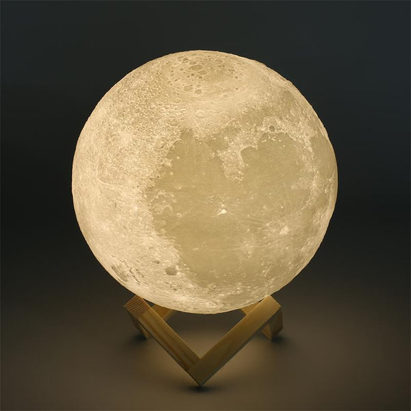 decorative 3d LED moon lamp