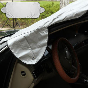 Smart 2 IN 1 Windshield Cover Protects Against Extreme Heat And Cold