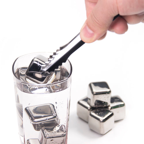 Extreme Chill Stainless Steel Reusable Ice Cubes for Whiskey, Vodka, Liqueurs, White Wine and more