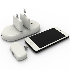 1x4 Portable Charging Station Power Bank for iPhone, Android & Other Smartphones
